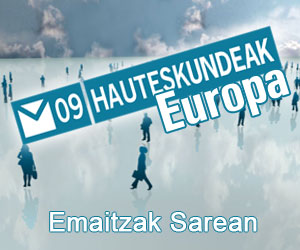 E-7:EUROPAKO HAUTESKUNDEAK  ETA LAU T´ERDIKO FINALA:MARTINEZ DE IRUJO-OLAIZOLA